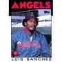 Cl27 1986 Topps #124 Luis Sanchez