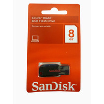 Pendrive 8gb Sandisk Cruzer Blade Usb 2.0 Flash Drive Nuevo