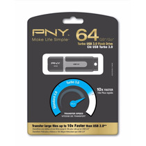 Pendrive Pny Turbo 64gb Usb 3.0 Y 2.0 Compatible 90mb/s