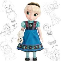 Muñeca De Elsa Anna Animators Original Disney Envio Gratis