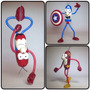 Güichos, Capitan America, Spiderman, Flash,superman Cotillon