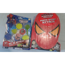 Spiderman Porta Spider Attack Mas Set Battle Game