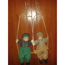 Muñecas De Porcelana Para Coleccion Pareja De Niños