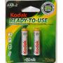 Pilas Kodak Recargable Aaa Original Triple A Bateria Blister