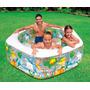 Piscina Inflable Acuario 56493 Para Niños Intex Acolchada