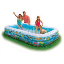 Piscina Familiar Rectangular 3anillos Bestway 305x183x56cm