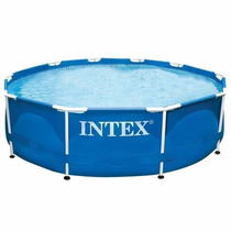 Piscina Intex 3.05 X 0.76 Mts Metal Frame 4.485 Lts + Bomba!
