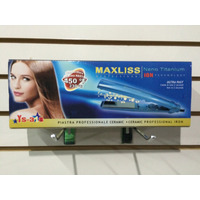 Plancha Profesional Maxliss Ys-318 Nano Titanium Made In Usa
