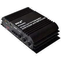 Amplificador Pyle Pfa 400 U 100 Watts Class T Hi-fi Usb/sd