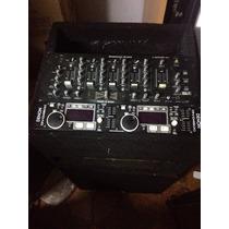 Denon 4500 Con Mixer Americanaudio Y Mueble