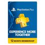 Tarjeta Playstation Plus 1 Año Psn Ps4 Ps3 Vita