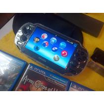 Sony Psp Vita 2 Juegos,varios Accesorios Y Memoria 2 Gigas
