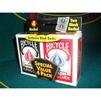 Carta Bicycle Nylon Rider Back 4 Mazos De Cartas Poker Magia