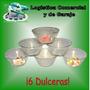 Set De 6 Dulceras 2cm Alto X 12cm Diametro Gelatina Flan Tor