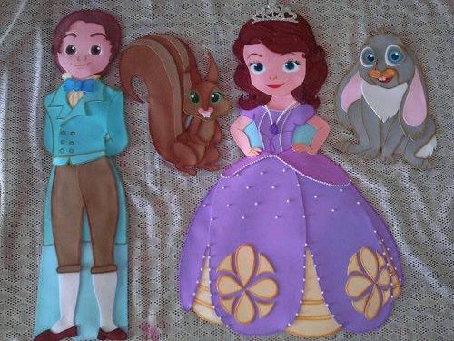 Princesita Sofia Y Sus Amigos Figuras De Foami De 80cm - Bs. 550,00 en