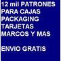 12000 Patrones Para Cajas Packaging Tarjetas - Envio Gratis