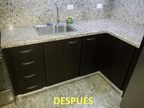 Puertas Para Su Cocina Empotrada De Mamposteria 250mil X Mts