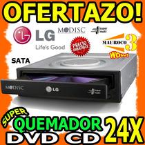 Wow Quemador Dvd Cd Lg Sata Lector 24x Doble Capa Dl Interna