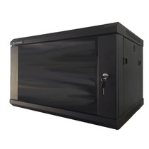 Rack De Pared Cerrado Gabinete Negro 45x37x60 Cm Con Llave