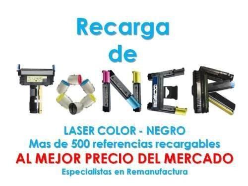 Recarga Toner Hp, Canon, Sansung, Epson, Xerox, Kyocera, Mas