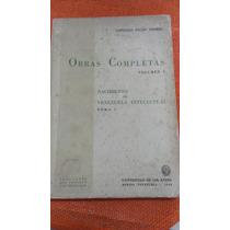 Obras Completas Vol I. Gonzalo Picón Febres