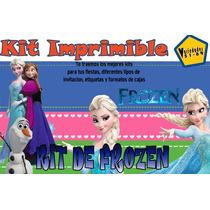Kit Imprimible Frozen,invitaciones,fiesta,plantillas,ticket