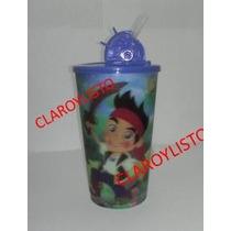 Vasos Jake El Pirata, Minions, Toy Story, Y + Con Tapa Y P.