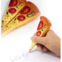 Bolígrafo Con Forma De Pizza Fiesta Cotillón Regalo Moda