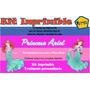 Kit Imprimible Princesa Ariel, Tarjeta, Invitaciones,diseño