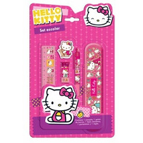 Set Escolar Hello Kitty Cartuchera Y Portaminas