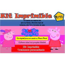 Kit Imprimible Peppa Pig, Invitaciones, Tarjetas, Diseño