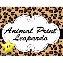 Kit Imprimible Animal Print Leopardo Diseñá Tarjetas, Cumple