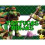 Kit Imprimible Tortugas Ninja Diseñá Tarjetas Cumples Y Mas