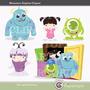 Kit Imprimible Monsters Inc Imagenes Clipart
