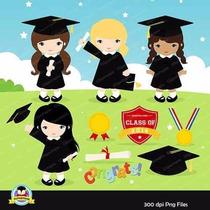 Kit Imprimible Graduacion Nenas Imagenes Clipart