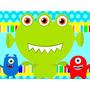 Kit Imprimible Monstruitos Candy Bar Tarjetas Monstruos