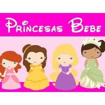 Kit Imprimible Princesas Baby Candy Bar Tarjetas Y Mas