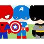 Kit Imprimible Pequeños Super Heroes Candy Bar Tarjetas