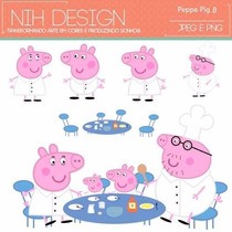 Kit Imprimible Pack Fondos Peppa Pig 14 Clipart