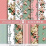 Kit Imprimible Pack Fondos Shabby Chic 84 Clipart
