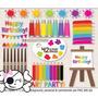 Kit Imprimible Pintura Pintando 2 Imagenes Clipart