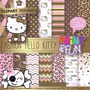 Kit Imprimible Pack Fondos Kitty Animal Print Clipart