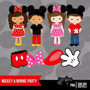 Kit Imprimible Mickey Mouse 4 Imagenes Clipart