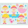 Kit Imprimible Baby Shower Nena 4 Imagenes Clipart