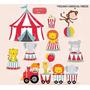 Kit Imprimible Circo Carnaval Imagenes Clipart