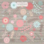 Kit Imprimible Shabby Chic 2 Imagenes Clipart