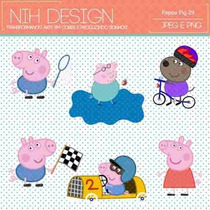 Kit Imprimible Pack Fondos Peppa Pig 7 Clipart