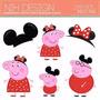 Kit Imprimible Pack Fondos Peppa Pig 5 Clipart