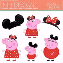 Kit Imprimible Pack Fondos Peppa Pig 5 Clipart