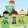 Kit Imprimible Chicos Superheroes 2 Imagenes Clipart